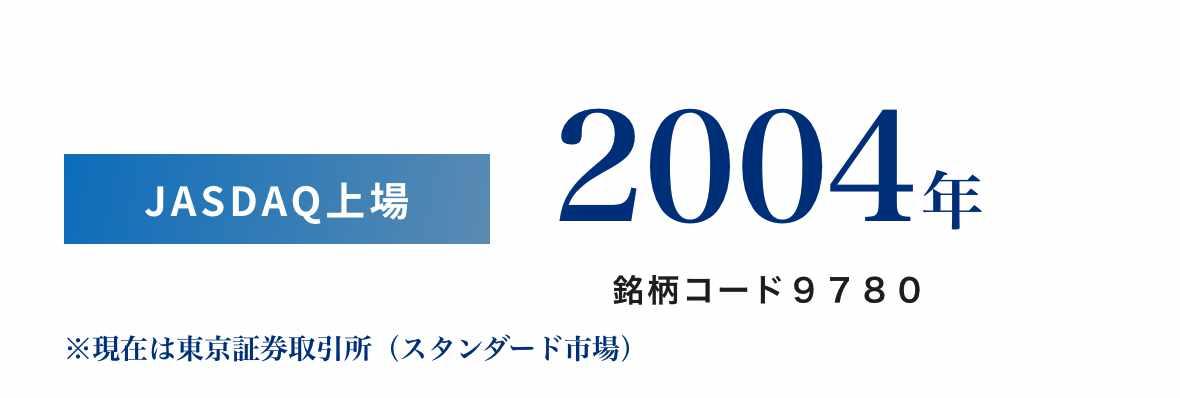JASDAQ上場 2004年 銘柄コード9780