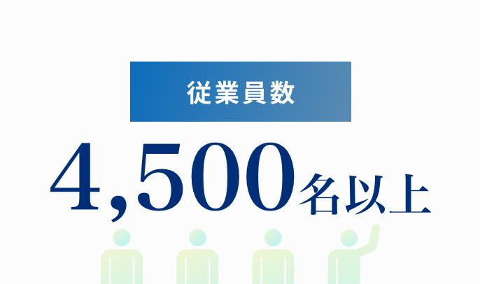 従業員数 4,500名以上